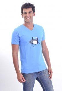 Sky Blue Need Memory Printed T Shirt @ http://www.stitche.com/men/t-shirts/stretch-tees/sky-blue-need-memory-printed-t-shirt.html