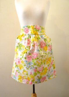 Womens Skirt High Waisted Mini Skirt by missmittensvintage on Etsy, $35.00
