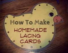 How to make homemade lacing cards