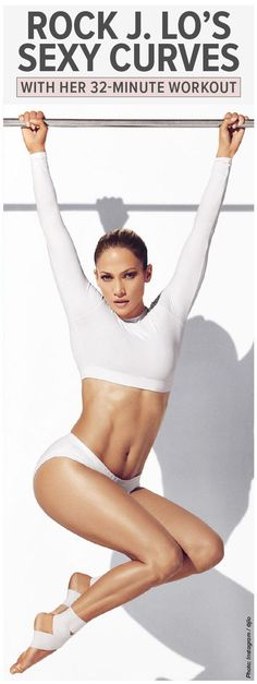 Jennifer Lopez's favorite workout is only 32 minutes long— that's right, just over a half-hour a day can give you the incredibly toned body that the seemingly-ageless star as achieved. Popculture.com #jlo #celebrityfitness #fitness #exercise #workout #fastworkout #womenshealth #athomeworkout
