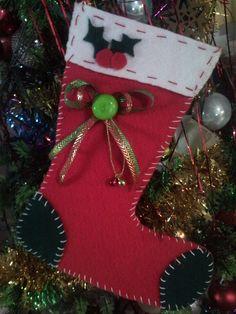 bota navideña!! q bonita me salio!