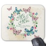 Personalized Butterfly Wreath Wedding | Mousepad #weddinginspiration #wedding #weddinginvitions #weddingideas #bride