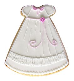 Baby Christening Dress Cookie