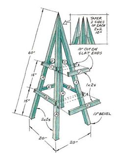 Building a Plant Obelisk Create a year-round garden accent with this stylish plant obelisk. Whether supporting vines or left unadorned it adds a vertical design element to your garden. The post Building a Plant Obelisk appeared first on Garten. Unique Woodworking, Woodworking Projects That Sell, Router Woodworking, Japanese Woodworking, Woodworking Shop, Green Woodworking, Popular Woodworking, Arbors Trellis, Garden Trellis