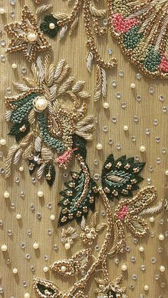 Renovate your Wardrobe, We provide customization in Designer Blouses & women ethnic wear. that reflect Amazing Handwork & Unique Zardosi Art at Your Budget & time, Worldwide Delivery. Border Embroidery Designs, Embroidery Suits Design, Bead Embroidery Patterns, Hand Work Embroidery, Wedding Embroidery, Couture Embroidery, Embroidery Fashion, Zardosi Embroidery, Beaded Embroidery