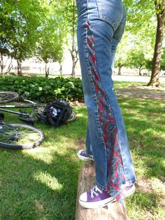 Awesome necktie jeans!