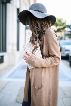 Wool floppy hats for the win!