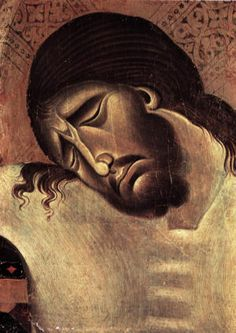 Cimabue (Italian Byzantine Style Painter, Crucifix (detail) can just see the pain, of all our sins, flooding his perfect loving heart. Byzantine Art, Byzantine Icons, Italian Painters, Italian Artist, Religious Icons, Religious Art, Giorgio Vasari, Renaissance, Jesus Face