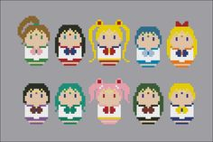 Sailor Moon parody Cross stitch PDF patterb by cloudsfactory