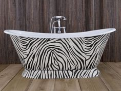 Splitting opinion since 2014… The iconic Zebra print leather clad Galleon serves to highlight just what is possible with Hurlingham. You want it? We can probably do it! See our website for more possibilities and get inspired! http://www.hurlinghambaths.co.uk/
