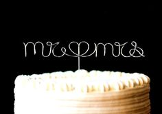 Cake Topper Monogram Silver Set Mr. Mrs. with by CreativeStamps, $17.00