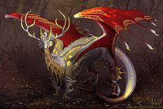 """cilverlining: """" """"Draw the dragon above you"""" art for Triibu on Flight Rising. """""""