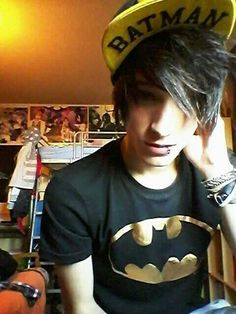 This kid has great style...cx-- I love this dude he has batman I want his shirt and his hat. I would love to meet him in real life you know make friends.I love making friends who are like me in some ways