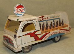 This vintage Pepsi-Cola Spanish Advertising Wood Toy Truck with Bottles from the 1950s sold at auction for over $240. See the full appraisal to see if the buyer got a good deal or paid too much.