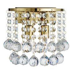 2402-2GO Hanna - nástenné krištáľové svietidlo zlaté