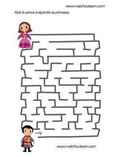 www.matchouteam.com carnaval labyrinthe maternelle Fun Learning, Teaching Kids, Mike The Knight, Maze Puzzles, Dragon Party, Prince And Princess, Kindergarten Activities, Babysitting, Rapunzel