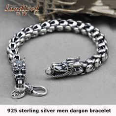 Wholesale 100% Real Pure 925 Sterling Silver Men bracelet double dargon heart Men jewelry .free shipping fine jewelry LHYB11 - http://jewelryfromchina.com/?product=wholesale-100-real-pure-925-sterling-silver-men-bracelet-double-dargon-heart-men-jewelry-free-shipping-fine-jewelry-lhyb11