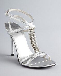 www.stuartweitzman.com, Stuart Weitzman Evening Sandals - Keyboard High Heel | Bloomingdale's, bride, bridal, wedding shoes, bridal shoes, wedding, bride shoes, silver shoes, silver sandals, wedding sandals, bridal sandals, haute couture, designer shoes, designer sandals, designer heels