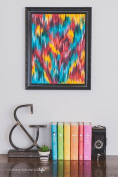 Colour Saturated Life | Upcycled Ikat Art
