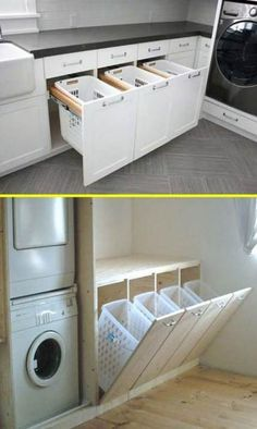27 laundry room ideas to maximize your small space - HOME - REMODELING -., laundry room ideas to maximize your small space - HOME - REMODELING -., laundry room ideas to maximize your smal Laundry Room Cabinets, Laundry Room Organization, Laundry Room Design, Laundry Rooms, Laundry Baskets, Laundry Closet, Diy Cabinets, Washing Baskets, Cleaning Closet
