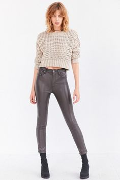 BDG Twig High-Rise Vegan Leather Pant ($79) // Thea Queen