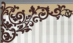 Swag Curtains, Curtains With Blinds, Panel Curtains, Decorative Borders, Decorative Panels, Scroll Pattern, Scroll Saw Patterns, Curtain Patterns, Curtain Designs