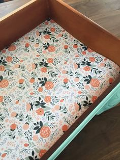 How to Add DIY Drawer Liners to Furniture Make your own DIY drawer liners using wrapping paper. Drawer liners add such a pretty detail to your furniture makeovers. Retro Furniture, Cheap Furniture, Furniture Projects, Furniture Makeover, Painted Furniture, Furniture Outlet, Furniture Stores, Ashleys Furniture, Mexican Furniture