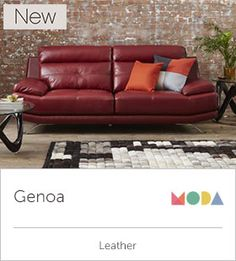 Enjoyable Genoa Red Leather Sofa Catosfera Net Gmtry Best Dining Table And Chair Ideas Images Gmtryco