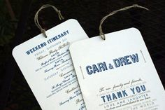 RESERVED for Lisa  Welcome / Itinerary Hang by JonesStreetPress, $170.00