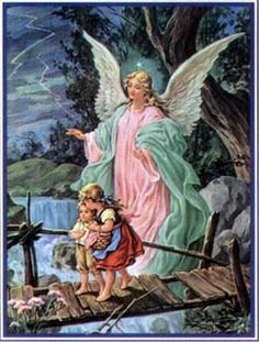 christmas angels pictures | Christmas Angel Watching over the Children