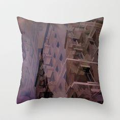 Quebec ciy Throw Pillow by Jean-François Dupuis - $20.00