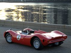 1966 Bizzarrini P538 Barchetta = Little boat. Love the wheels Cromodora, Campagnolo?