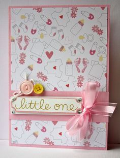 New Baby Handmade Card by SusanTracie on Etsy, $6.50