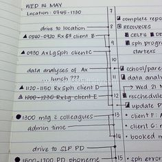 Bullet journaling broken down by appointment and tasks (useful for work)