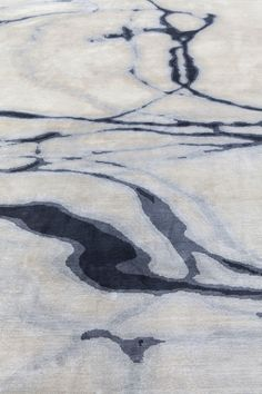 Waterlines Hand Knotted Silk Rug in Navy Taupe by Tania Johnson Design - Close up Water Collection, Geometric Circle, Color Pencil Art, Black Abstract, Patterned Carpet, Carpet Design, White Art, Pattern Art, Pattern Wallpaper