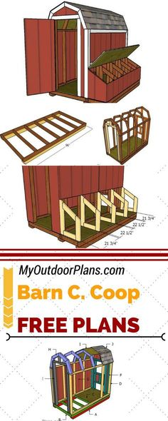 Check out my free barn chicken coop plans! If you want to grow chickens in your backyard this 4x8 coop is the ideal choice. See full and free plans at myoutdoorplans.com