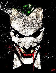 JOKER ACRYLIC SPLATTER SERIES by Justinart13.deviantart.com on @deviantART