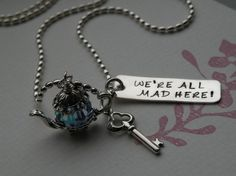 We're All Mad Here Necklace by FireweedImpressions on Etsy, $49.00
