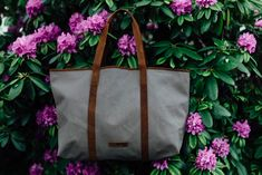 Leather and Canvas tote bag from Scaramnaga's new Summer collection. Canvas Handbags, Canvas Tote Bags, Weekend Travel Bag, Canvas Shoulder Bag, Shopper Tote, Canvas Backpack, Leather Accessories, Shopping Bag, Summer