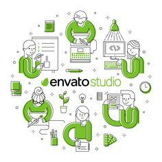 Envato Studio T-Shirt on Behance