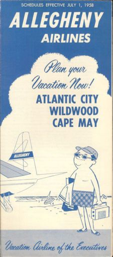 View Item: Allegheny Airlines system timetable 7/1/58 [403-1]