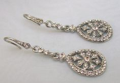 Gorgeous vintage inspired bridal earrings