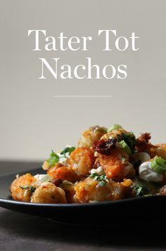 Tater Tot Nachos Plus 32 Other Recipes Perfect For Football Season via PureWow