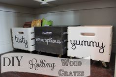 DIY {Rolling} Wood Crates