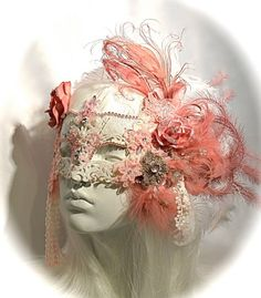 Antoinette's Rose Masquerade Mask Art Mask Mardi by Marcellefinery