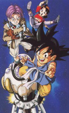 "jinzuhikari: "" scan from Vintage (1996) Dragon Ball GT poster / Published by Toei Animation - Shueisha group - Studio Bird - Akira Toriyama - Fuji TV "" Larger version of this image."