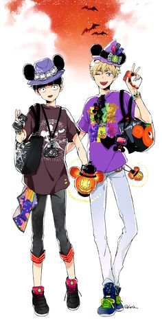 Kageyama Shigeo and Hanazawa Teruki #halloween #fullbody #peace