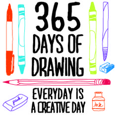 365 days of art - drawing challenges High School Art, Middle School Art, Drawing Lessons, Art Lessons, Learn Drawing, Drawing Ideas, Art And Illustration, Classe D'art, Drawing Challenge