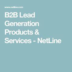 B2B Lead Generation Products & Services - NetLine