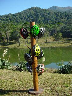 Helmet totem Brazilian lake